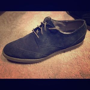 Calvin Klein blue suede shoes